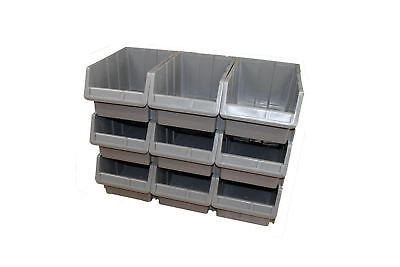 20X Plastic Storage Bins Boxes stackable space bin container box 255X400X200 mm
