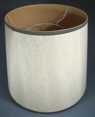 Vintage/retro 60s-70s textured bone fabric standard floor lamp shade-large