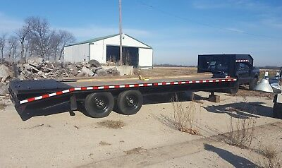 24 ft gooseneck deckover 14k  equipment trailer Heavy Duty