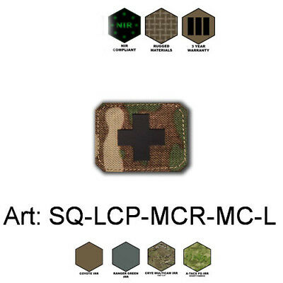 Patch Red Cross Cordura 1000D (NIR) - Laser-Cut Multicam, Coyote, Olive, Black