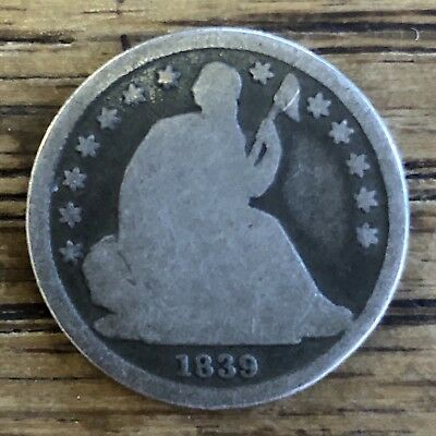 1839-O Seated Liberty Dime RARE NEW ORLEANS MINTED Nice Old Patina *NO RESERVE*!