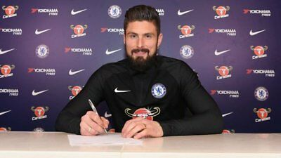 Chelsea FC Olivier Giroud Unsigned Photo 6x4