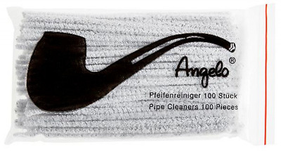 100 Angelo Pipe Cleaner Strips Pack of 100 White, Brand Quality