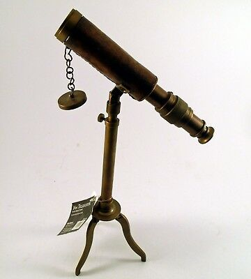 World Market 14in Telescope with Brass Stand