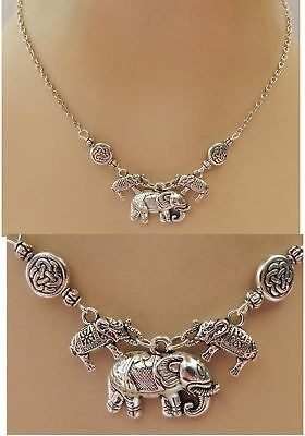 Necklace Elephant Pendant Silver Handmade NEW Accessories Fashion Chain