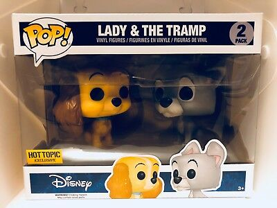 Funko Pop Disney Lady and the Tramp 2 Pack Hot Topic Exclusive New