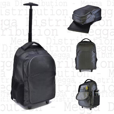 """Wheeled 2 in 1 Jacquard Executive 15.6"""" Laptop Roller Case/Backpack/Hand Luggage"""