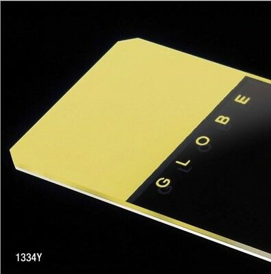 Microscope Slides, Glass, 25 x 75mm, 45° Beveled Edges, Clipped Corners, Yellow