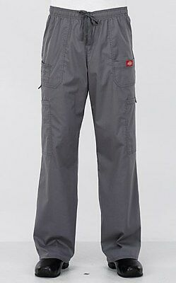 Dickies Gen Flex Medical Lt Pewter Men's Youtility Utility Scrub Pant NWT 81003