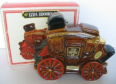 1969 Overland Express Stagecoach Leavenworth To Denver Brooks Decanter + Box
