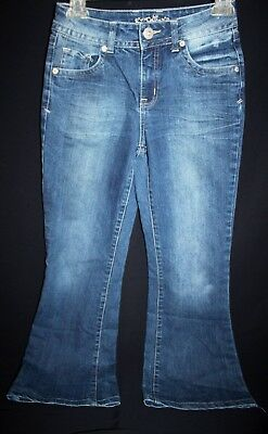 Justice Jeans Pants * Size12R * Distressed Med Wash Bootcut