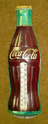 Vintage Orig Coca-Cola Thermometer Coke Bottle Shaped, Robertson Wall Sign, 5X16