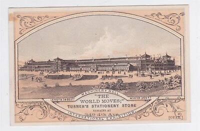 1876 Centennial Expo Philadelphia Pa Trade Card Machinery Bldg.