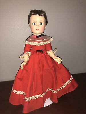 "VIntage 14"" Madame Alexander Little Women JO walking strung doll Maggie face"