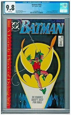 Batman #442 CGC 9.8 White Lonely Place of Dying 1st Timothy Drake Robin app