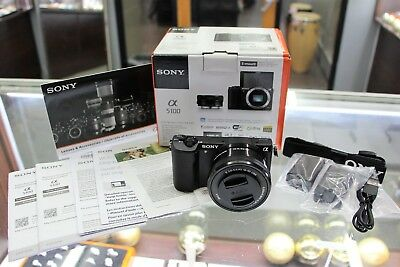 SONY Alpha a5100 24.3MP Digital Camera - Black (with E PZ OSS 16-50mm Lens)