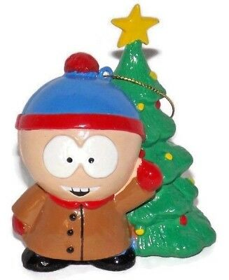 Southpark Stan Christmas Ornament With Tree Blue Green Comedy Central Kurt Adler