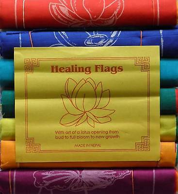 100% Cotton Healing Lotus Affirmation Flags 7 Rolls/ 7Mantras/7 Colours/49 Flags
