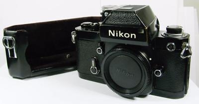 Nikon F2 Photomic Black Body - Working Meter - Half Case