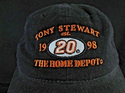 big sale e4725 26ff1 Vintage Tony Stewart  20 - Home Depot Racing - Nascar - Strap-Back Ball