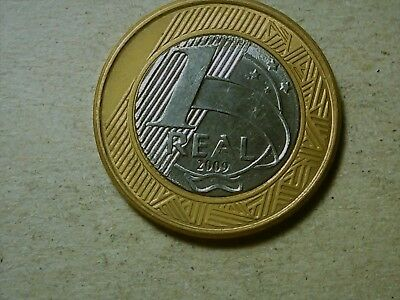 Brazil 1 real 2009 bi-metallic coin