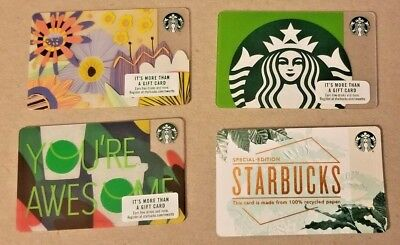 Starbucks Collectible Cards - 2018 Spring Collection - 4 New Cards