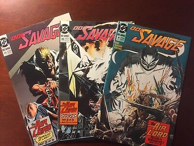 Doc Savage #19, 1990 DC Comic includes FREE #20 and #21 Lot