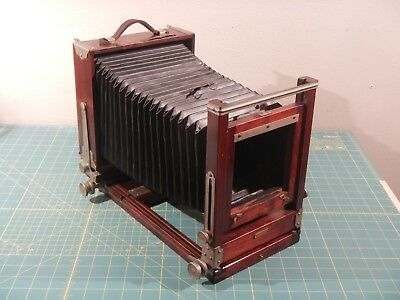 Gundlach Korona View 4x5 w/film holders Ex. Condition Wood Field Camera Vintage