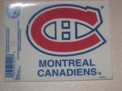 Montreal Canadiens NHL Hockey Reusable Static Cling Window Decal Sticker