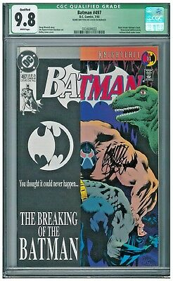 Batman #497 CGC 9.8 White Bane app signed by Doug Moench and Dick Giordano