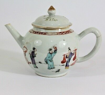 A 19th / 20th  Century Chinese Antique Qianlong Porcelain Hand painted Teapot
