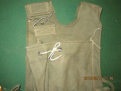 10L100%Orig Late Post WWII WW2 Mortar Browning M1919 Ammo Can Vest Bag Pouch OD7