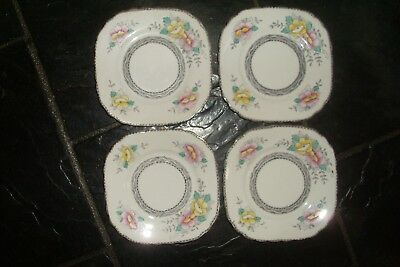 Lot Of 4 Vintage Style Floral Design Bone China Side Plates -High Tea Parties