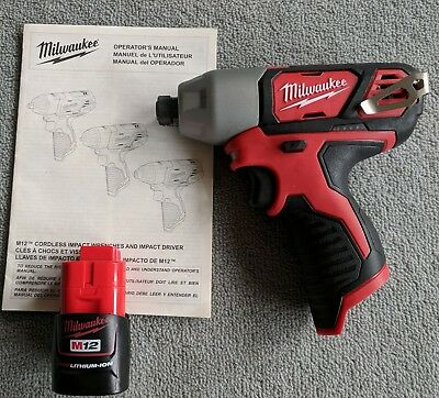 """New Milwaukee 12V Compact 1/4"""" Impact Driver + Battery // Free Express Postage"""