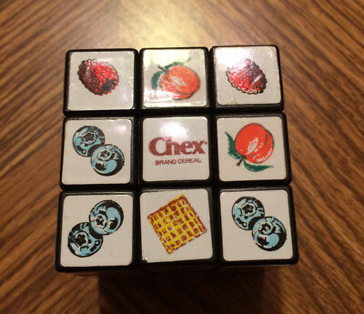 Vintage Chex Cereal Rubik's Cube Puzzle Toy Promotion Excellent Used Condition