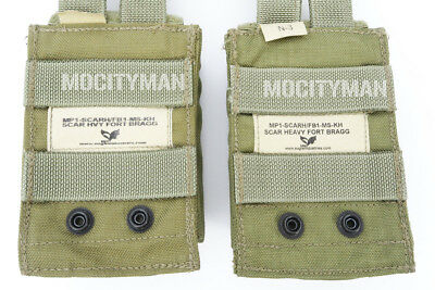 Eagle Heavy SCAR Fort Bragg Single Mag Speed Pouch Kydex Khaki - Lot of 2 - NEW