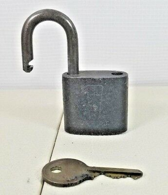 Vintage Antique Steel Hurd USN Lock DETROIT Brass Key USN US Navy 36. 41D