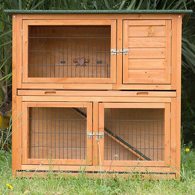 Double storey rabbit geinea pig hutch on legs