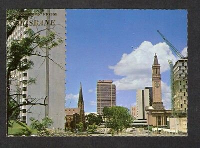 QLD - c1970s POSTCARD - VIEW FROM UPPER ALBERT STREET, BRISBANE, QUEENSLAND
