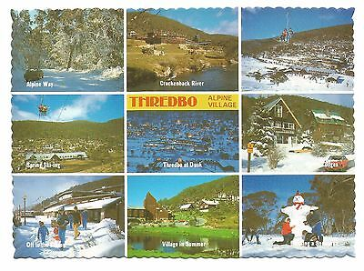 NSW - c1970s POSTCARD - HIGHLIGHTS OF THREDBO, SNOWY MOUNTAINS, NEW SOUTH WALES