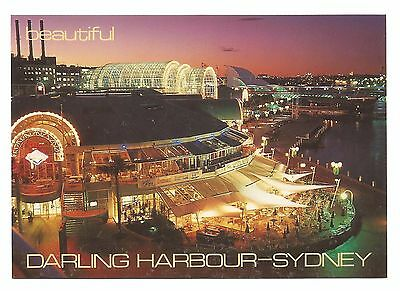 NSW - c1980s POSTCARD - DARLING HARBOUR AT SUNSET, SYDNEY, NEW SOUTH WALES