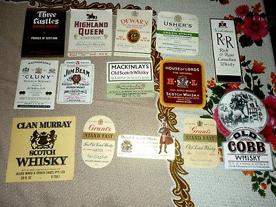 Collectable whiskey labels - Set of 14 imperial whiskey labels MINT