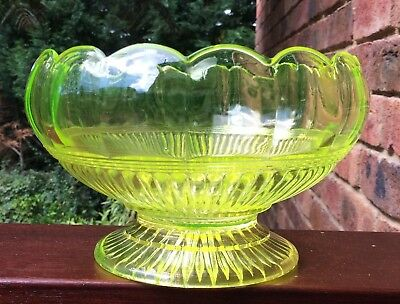 CROWN CRYSTAL CITRON ROSEBOWL made by the makers of Australian Carnival Glass