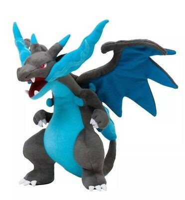 "Pokémon Mega Charizard X Plush Stuffed Animal Toy 9"" US Seller"