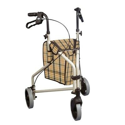3-Wheel Rollator Walker Winnie Lite Supreme Indoor Outdoor Smooth Ride Pouch NEW
