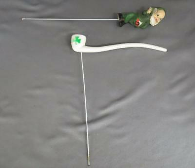 Vintage Irish St. Patrick's Day Picks Leprechaun & Pipe