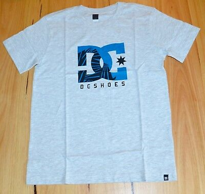 DC Shoes Boys Printed T Shirt - GREY - SIZES- 10,12,14 & 16 YEARS - NEW