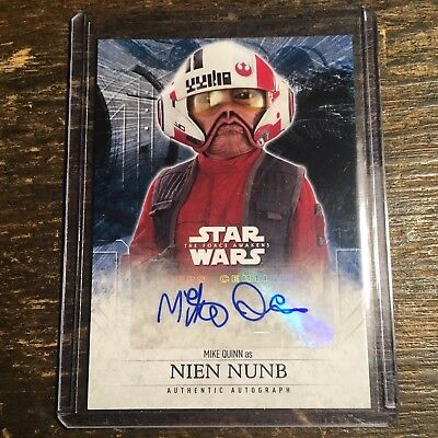 Star Wars The Force Awakens Nien Numb Autograph Card