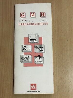 GMH Holden Facts And Information 1985