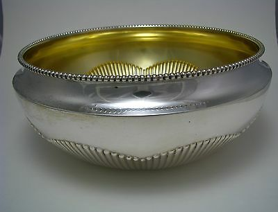 SOLID SILVER BOWL FRUIT DISH 800 Silver by O.S. Germany 1900s No Mono Excel Cond